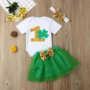 2020 New Neugeborenes Baby Mein Regenbogen-Spielanzug Tutu Rock-Outfit Kleidung Boho Kleid