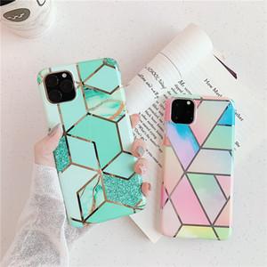 Grano de mármol colorido coreano para iPhone 11 / iPhone 11 Pro / iPhone 11 Pro Max Funda antideslizante para teléfono TPU Funda protectora a prueba de golpes Suave mejor funda