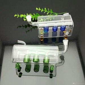 Классический три колонки фильтр стекла воду-занавес с квадратной трубой Большого Пирекс стекло масло горелка Труба густого маслом станками стекло водопровод