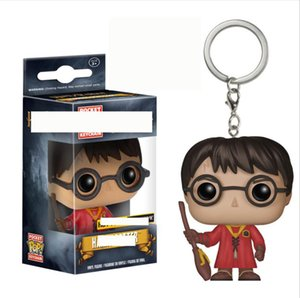 funko pop key chain Harry Potter film and television pendant hand-made red dress red dress flame goblet