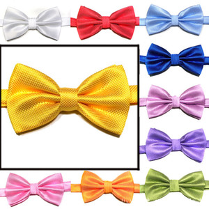 British style Solid Color Baby Tie Children Fine Plaid Necktie Fashion Children Cute Lattice Necktie Hot Kids Adjustable Bow Tie M580