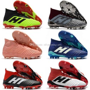 Marron Orange Messi Predator 18 Crampons FG Chaussures de soccer pour enfants Femmes Bottes soccer Enfants ACE 18.1 Chaussures de football