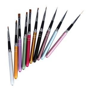 Beste Angebot Neue Gute Qualität Frauen 10 TEILE / SATZ Nail art Pen Pinsel Nagelhaut UV Gel Salon Pinsel Werkzeug