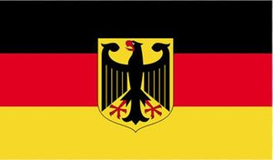 Germany National Emblem Flag Banner 3x5FT 90x150CM Home Decor Polyester Decoration