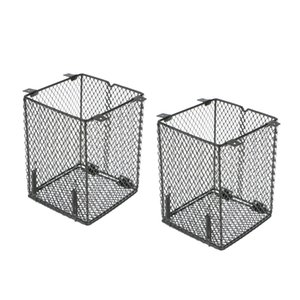2xStainless Birds Food Seed Bowl Cage Hanging Feeder For Small Medium Large Bird