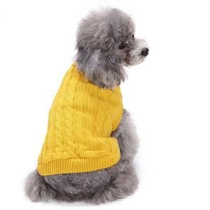 Costume alta qualità di inverno del cane vestiti dell'animale domestico vestiti Autum Outwear Puppy Cani di piccola taglia maglione tuta Two Legs Gatti Giacche Cappotti all'ingrosso 7