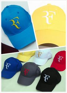 Al por mayor Cap Roger Federer de Suiza 2019 ajustable del casquillo del ocio sombreros sólidos del sombrero color de la caída del Snapback de moda de verano