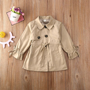 Toddler Kid Baby Girl Trench Coat Winter Jacket Windbreaker Outerwear Clothes
