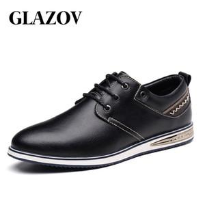Glazov Männer Freizeitschuhe Mode Männer Schuhe echtes Leder-Männer Loafers Freizeit Mokassins Männer Driving Größe 38-44