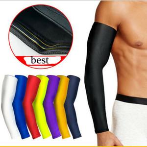 Correndo Suporte Brace Esporte cotovelo manga Pad Compression Arm Warmer Elbow Protector Basketball Armband Extensão For Men