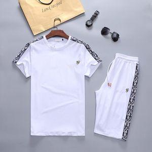 Tracksuits Erkek Kısa Kollu T-shirt Pantolon Running yaz Marka Kazak Lüks Tasarımcı Koşu Suit Erkekler Moda Jogger parça takım elbise ter