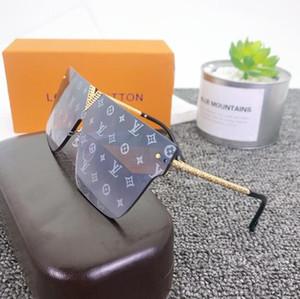 2020 heiße verkaufende Frauen Art und Weise quadratische Sonnenbrille Monster Stil Rechteck Sonnegläser UV400 Adumbral Goggle Glas kostenfrei