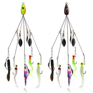 Pesca Alabama Rig Lures 21.5 cm 18g Grupo Ataque Acessórios Jig Cabeça Gancho Soft Bait Peixe 11 Peças Set