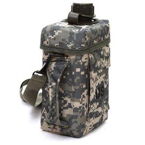 Desgaste de la botella de 2 litros portátil Hervidor cantina de gran capacidad térmica que va de excursión al aire libre durable del deporte militar de agua de PVC resistente