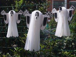 홈 호러 할로윈 장식 파티를위한 할로윈 유령 종이 펜던트 파티 장식 장식품이 크기 용품