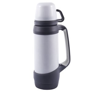 Top-1.2L Vacuum Flasks Outdoor Travel Cup Straight Cup Shape Thermoses Stainless Steel Thermoses Cup Heat Preservation Bottle Th