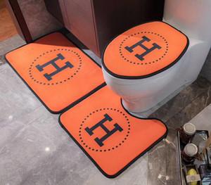 Nuovo design per il bagno sedile del water in tre pezzi di cristallo porta di velluto tappeto camera da letto di moda spessa antiscivolo cuscino del sedile vasca da bagno WC