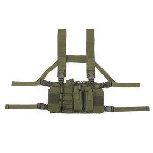 Outdoor Tactical Multicam Black Vest Chest Rig Carrier Vest Mag Pouches AK AR M4 Hunting Suspender Shoulder Molle Magazine Vest
