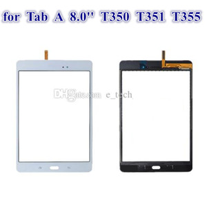 Touch Screen Digitizer Glass Lens with Tape for Samsung Galaxy Tab A 8.0 T350 T351 T355 with logo digitizer 40PCS Lot DHL