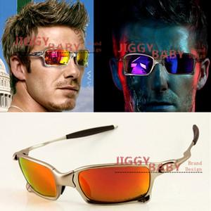 Top qualità X-Metal Designer X-Squared occhiali da sole polarizzati UV400 Sport OO6011 guida di guida esterna Occhiali da sole Iridium Ruby Red Marca