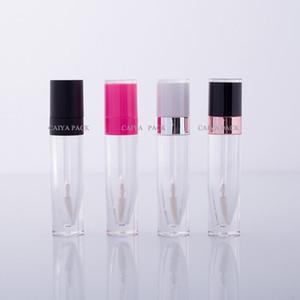 100pcs التي الأبيض كاب زجاجة فارغة قابلة لإعادة التعبئة البلاستيكية بلسم الشفاه أنابيب إفراغ ملمع الشفاه أنبوب