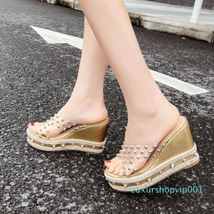 Pretty2019 Slope Second Posimi Flange Glass Glue Hook Up High With Muffin Bottom Slipper Woman
