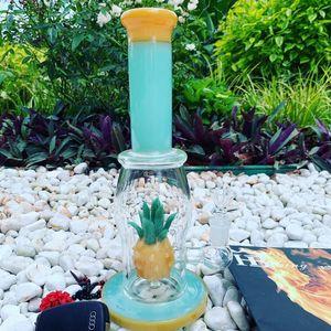 Bongo de vidro Tubulação De Água Dab Rig Heady vidro oil rig borbulhador de abacaxi venda quente com 14mm tigela