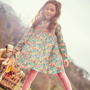 bambini di design di lusso vestiti delle ragazze vestito di Natale maglia ragazze a maniche lunghe vestito le donne vestito tuta stampa di cotone per bambini