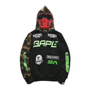 Designer Herren Hoodie Hai Kopf Pullover Hoodie Street Hip Hop Nachtlicht Camouflage Marke Hoodie Sweatshirt Mantel Paar