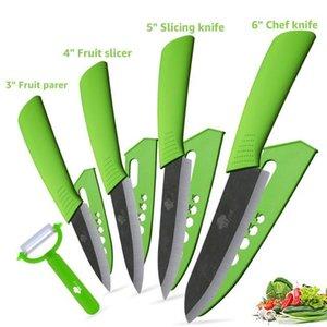 Küchenmesser Keramikmesser 3 \ 4 \ 5 \ 6 Zoll Zirconia japanisches Messer Black Blade-Schnipsel-Frucht keramisches Chef Messer Koch Set