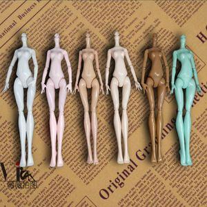 6pcs / lot DIY imitación desnudo cuerpo sin cabeza durante Monster High Dolls Cuentos 11 Juntas Cuerpos Demonio monstruo accesorios para muñecas