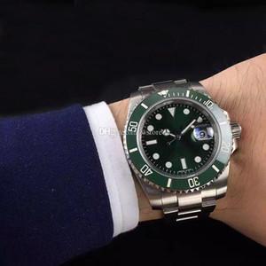 Homme Montres de céramique Mécanique en acier inoxydable pleine Bezel automatique movment 116610 reloj de Lujo Sapphire 5ATM montre étanche