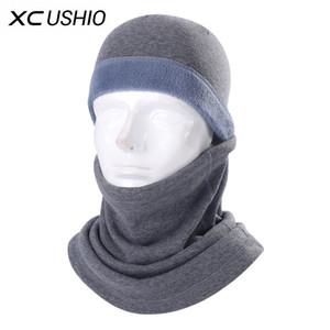 Espesar invierno esquí mascarilla facial a prueba de viento caliente Unisex Fleece Tela Esquí Ciclismo máscara de la bufanda de la bicicleta Snowboard deporte al aire libre