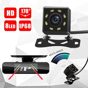 8 LED IR Night Vision Voltar Camera Waterproof Estacionamento backup Camera Universal Wide Angle Rearview Car Câmara de visão traseira