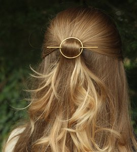 Geometrica ovale forcine Capelli Stick Forcella Vintage semplici Boho clip di capelli delle ragazze delle donne accessori dei capelli per la festa nuziale Beach gioielli