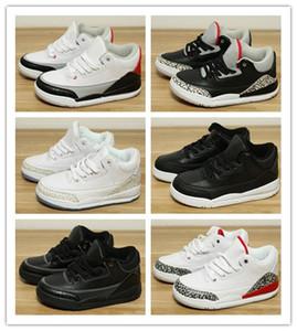 NIKE AIR JORDAN RETRO shoes качество Дизайнер 3 Легкая атлетика юношеские баскетбольные кроссовки Black Cement Katrina Fashion Casual Sports 3s III Кроссовки для кроссовок детские
