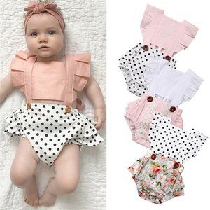 Focusnorm New Hot Neugeborene Kleinkind-Baby-Rüsche-Backless Bodysuit-Overall-Cotton Soft Outfit
