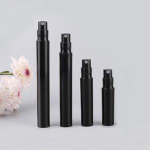 2ml 3ml 4 ml de 5 ml de perfume negro botella de pulverización Perfume de hombre botella de spray portátil viajes contenedor cosmético