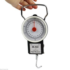 5Pcs Portable Spring Scale Luggage Fish Scale Promotional Gift Shopping Scales Hanging Scale Tape Measure 22kg 250g