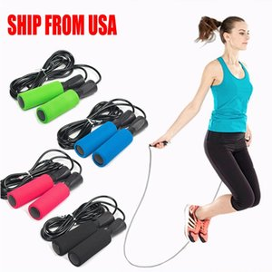 SHIP FROM USA Adjustable Boxing Skipping Sport Jump Ropes Exercise Equipment with Thickened Anti-slip Foam US Shipping DHL F6235