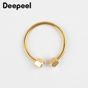 Meetee 52mm Manual Brass Keychain Buckles Pure Copper O Ring Screw Key Ring Hang Hook DIY Outdoor Storage Accessory