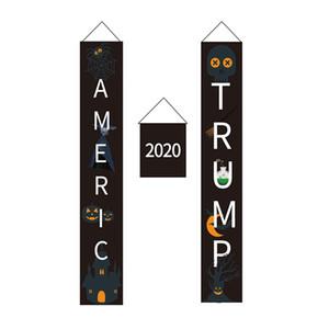 Trump 2020 de Halloween bandera de América Donald Trump 2020 Banner decoración de Halloween para jardín Puerta 9 Estilo HHA749