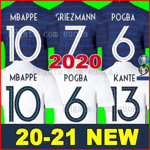 Fransa forması kitleri 2020 futbol formaları Futbol formaları 20 21 MBAPPE GRIEZMANN POGBA gömlek erkekler çocuk setleri Camisa 100th futbol forması
