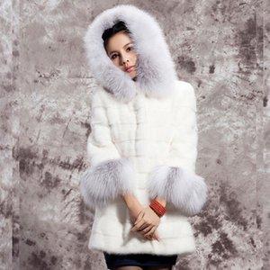 Women Fashion Faux Fur Coat Casual Jacket Female Outerwear Hooded Coat Windbreak Plus Size Winter Long Faux  Fur Overcoat