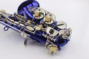 Marchio di qualità Suzuki Piccolo Bend collo Sassofono Soprano B Flat unico Blu Bronzo Sassofono Ottone Sax strumento musicale professionale