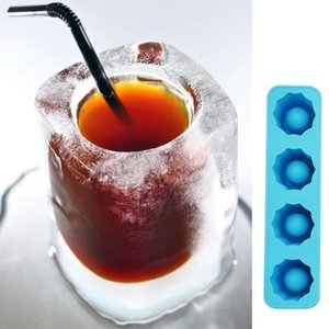 Mold Ice Cube Tray Makes Lunettes Ice Mold Tourné Cadeaux Nouveauté Plateau été potable outil de glace Prise de vue en verre moule D0093