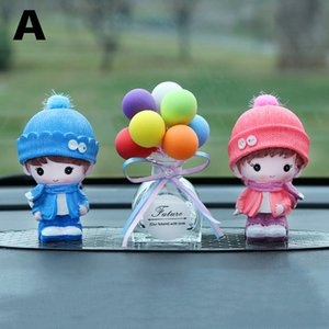 Cute Cartoon Doll Toys Lovers Car Ornaments Perfume Auto Interior Decoration Balloon Figurines Doll Toys Fragrance Ornament