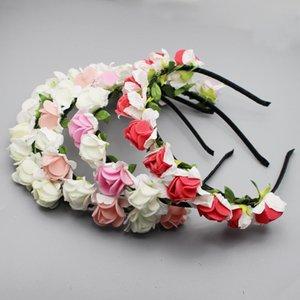 10pcs / Lot Hochzeit Braut Kopfschmuck Frauen-Haar-Zusätze Pe Rose Hairpin künstliche Blumenhandgefertigte Kopfbedeckung für die Braut Haarreif