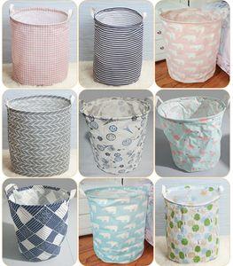 21 Estilos estilo Europeu dobrável portátil cesta de armazenamento cesta de armazenamento de algodão impermeável cesta de armazenamento cesta de cestas à prova d 'água M235