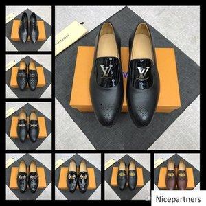A1 52 Modell Lbrands Schuhe Flach echtes Leder Oxford Schuhe Geschäft Mens Gehen Hochzeit Größe 38-45 mit Kasten